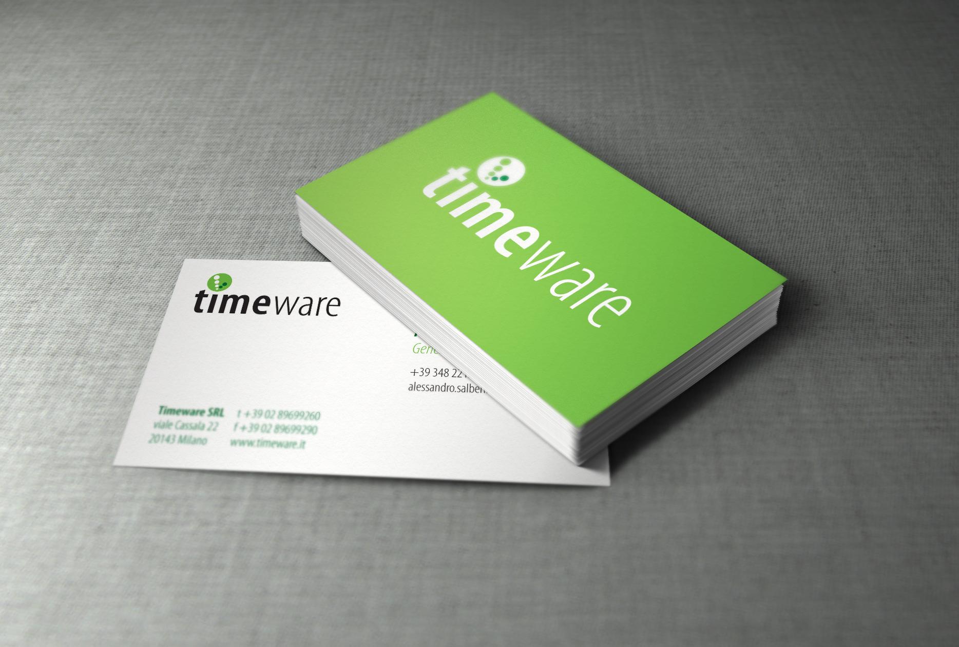 Biglietti da visita Timeware