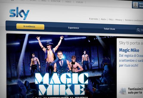 Magic mike grafica promozionale per sky ti porta al - Sky ti porta al cinema ...